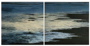 Ebb tide diptych 1.2m sq each canvas