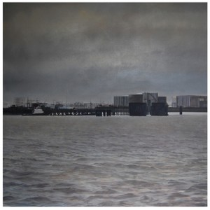 Thames Delta 1.2m sq Oil on Canvas